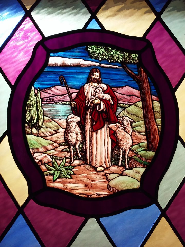 Stained Glass – Jesus the Good Shepherd